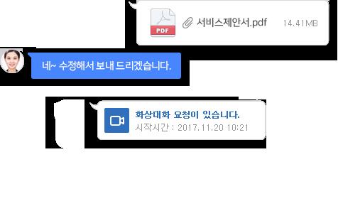 커뮤니케이션 화면