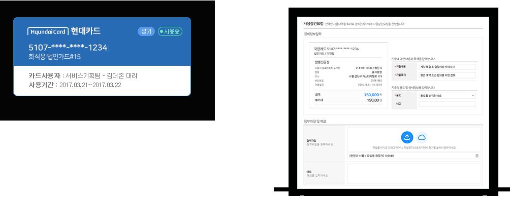 Corporate card ScreenShot